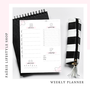 Weekly Planner Printable (Portrait and L