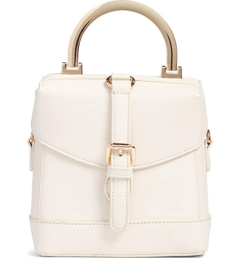 Top Handle Studded Bag
