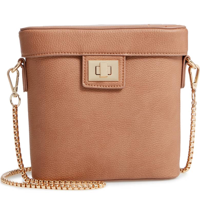 Lindsey Faux Leather Crossbody Bag