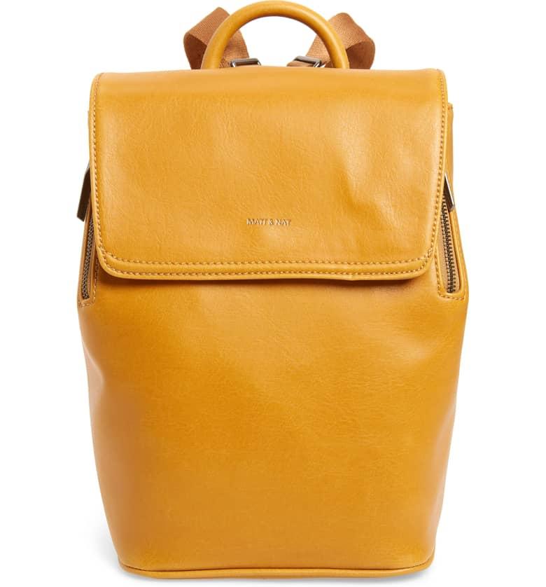 Mini Fabi Faux Leather Backpack