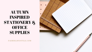 Autumn-Inspired Stationery & Office Supplies