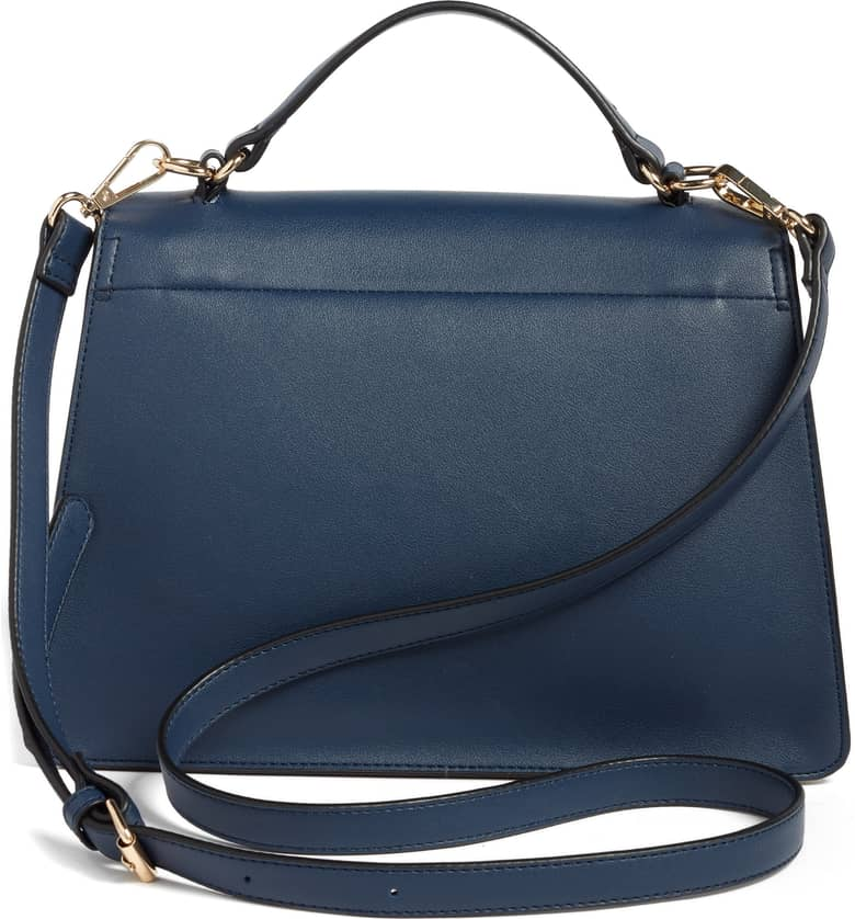 Colorblock Faux Leather Satchel by Leith