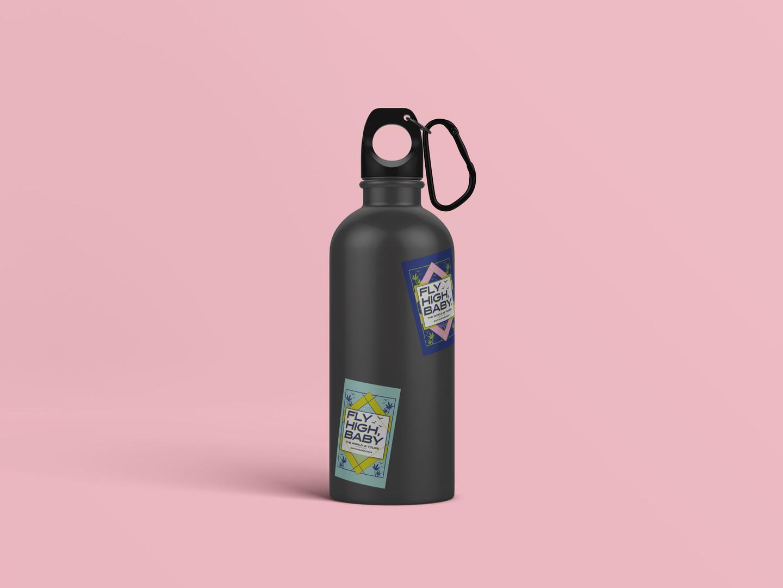 Lady Jays Sticker Waterbottle Mockup 04-