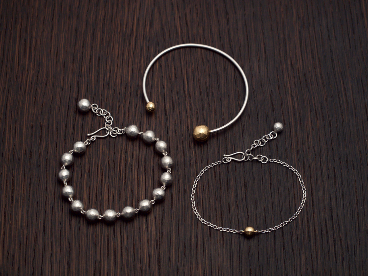 ball bracelets on wood SL a