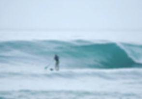 Enjoying the waves in Montanita this wee