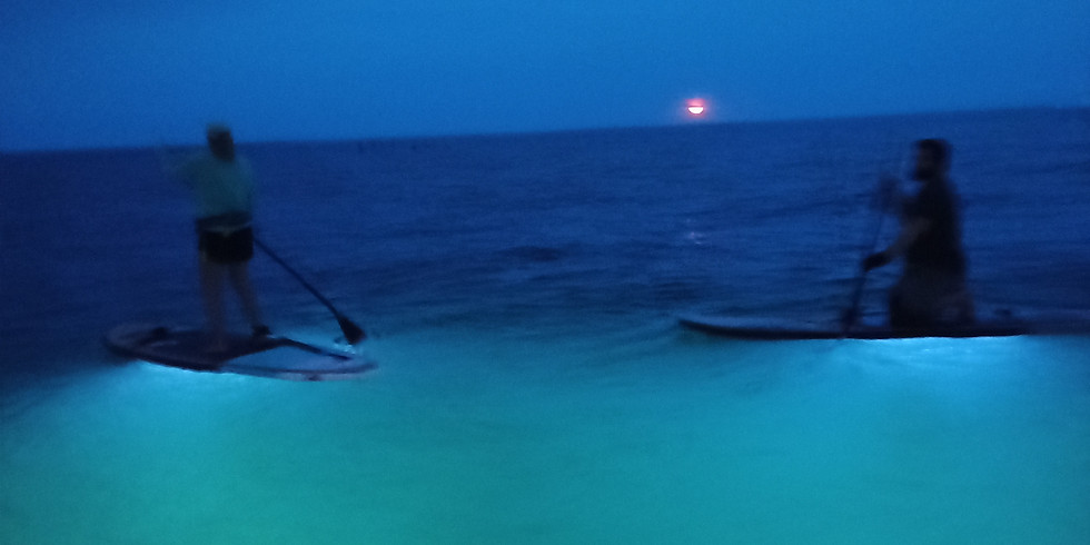 Full Moon SUP with lights under your board!