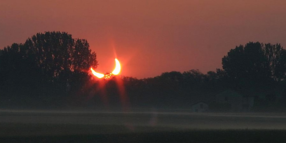 Rare Solar Eclipse at Sunrise SUP