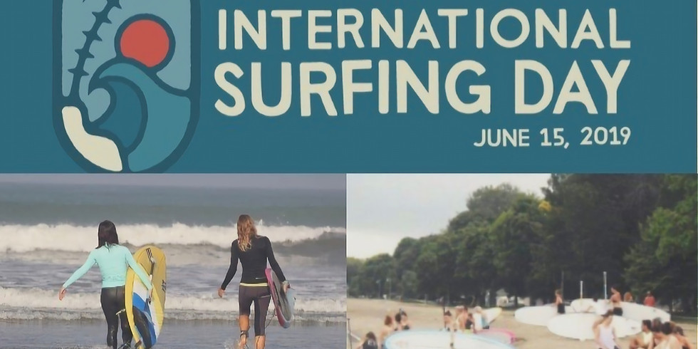 International Surfing Day group paddle with the SUPGirlz & Surf Ontario crew