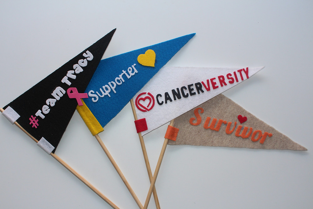 Four Colorful Pennant Flags