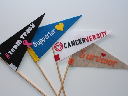 "DIY ""Team Spirit"" Pennant Flags"