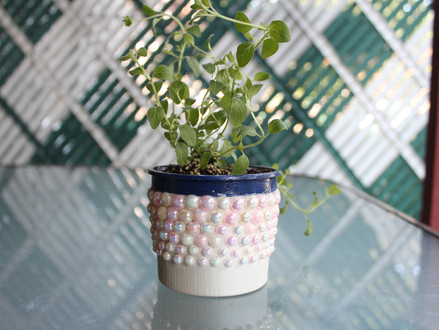"DIY ""Cookie Dough Tub"" Flower Pot"