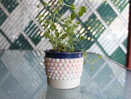 """DIY """"Cookie Dough Tub"""" Flower Pot"""