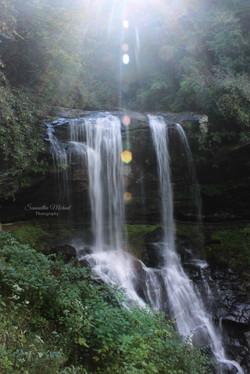 Sunlit Waterfall
