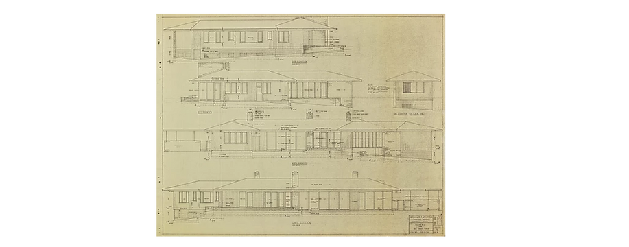 Plans for Laura and Fanida Baker Residen