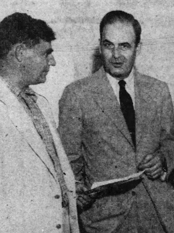 Ted Fearney on left with Paul M Hefferma