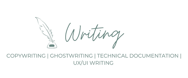 Writing services offered by Cabana Communications: Copywriting, ghostwriting, technical documentation, and UX/UI writing