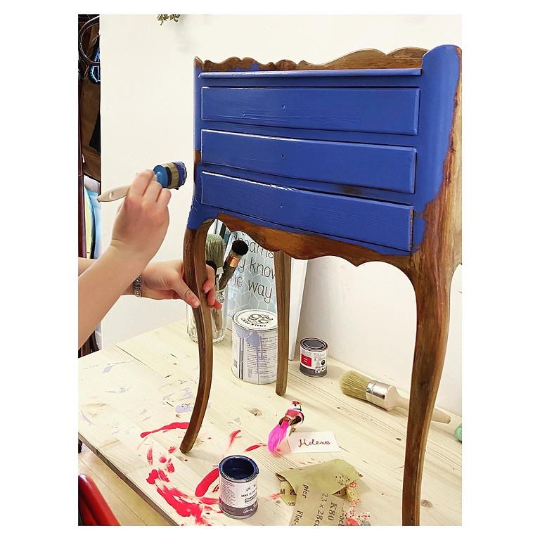 """Peinture sur meuble avec """" l'Atelier N°7"""""""