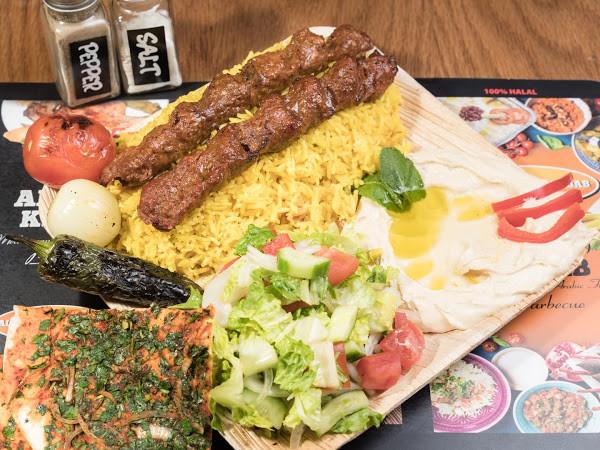 Aleppo Kebab Plate.