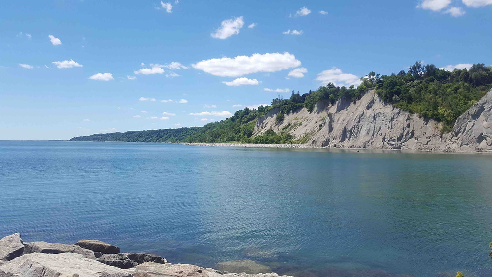 The Scarborough Bluffs.