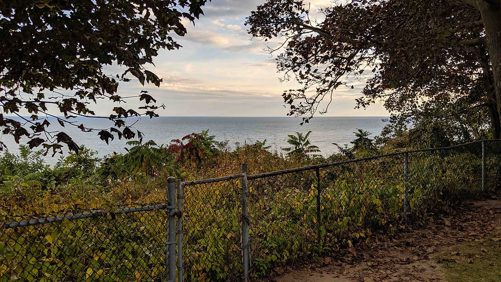 View of Lake Ontario from Rosetta McClain Gardens