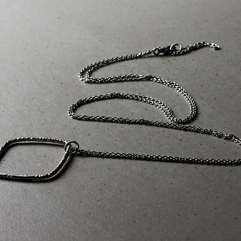 Shani Hammered Silver Necklace - RRP $49.95