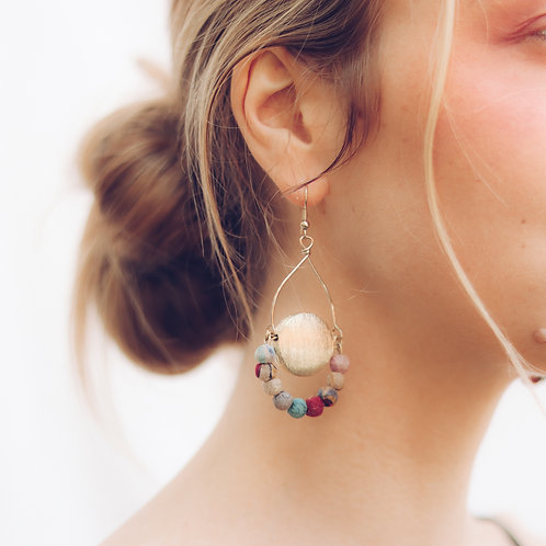 Upcycle Terra Warm Earrings - RRP $49.95