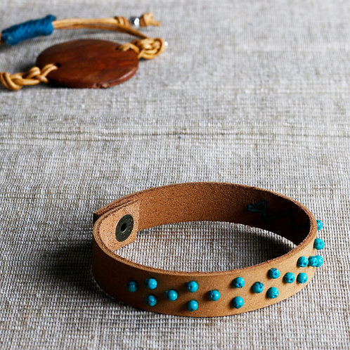 Turquoise Beaded Leather Bracelet - RRP $49.95