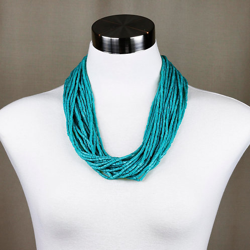Turquoise Glass Bead Necklace - RRP $129.95