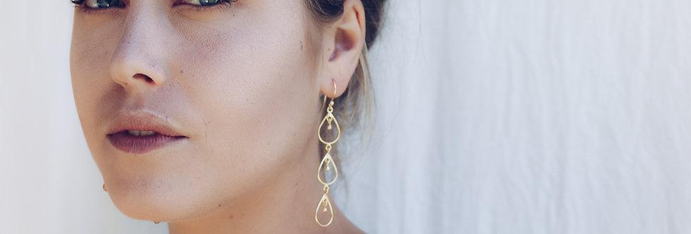 Newfound Three Drops Earrings