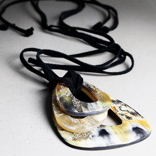 Mix Natural Horn Necklace - RRP $59.95