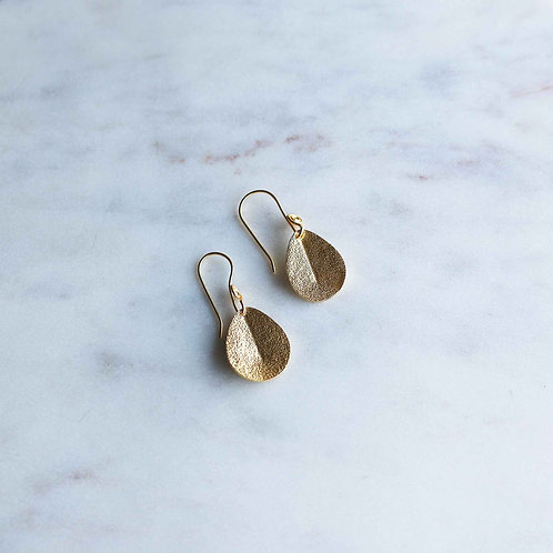 Spirited Hammered Little Leaf Earrings - RRP $59.95