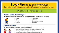 Speak Up and be Safe from Abuse Poster.P