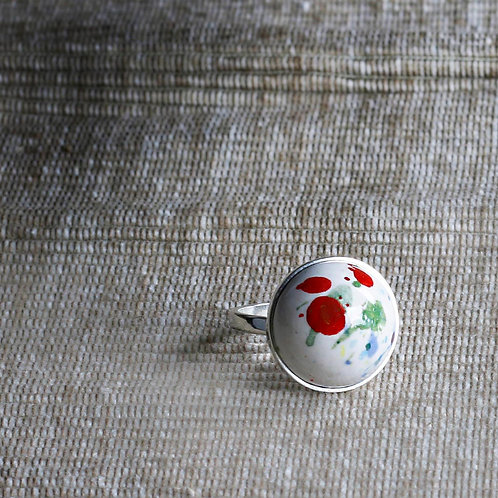 Modern Art Hand Painted Ceramic Ring - RRP $39.95
