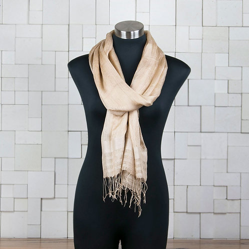 Pure Mulberry Silk Scarf - Gold