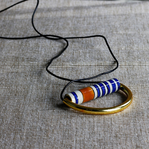 Ceramic and Brass Necklace - $49.95
