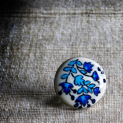 Flowers Hand Painted Ceramic Ring - RRP $39.95