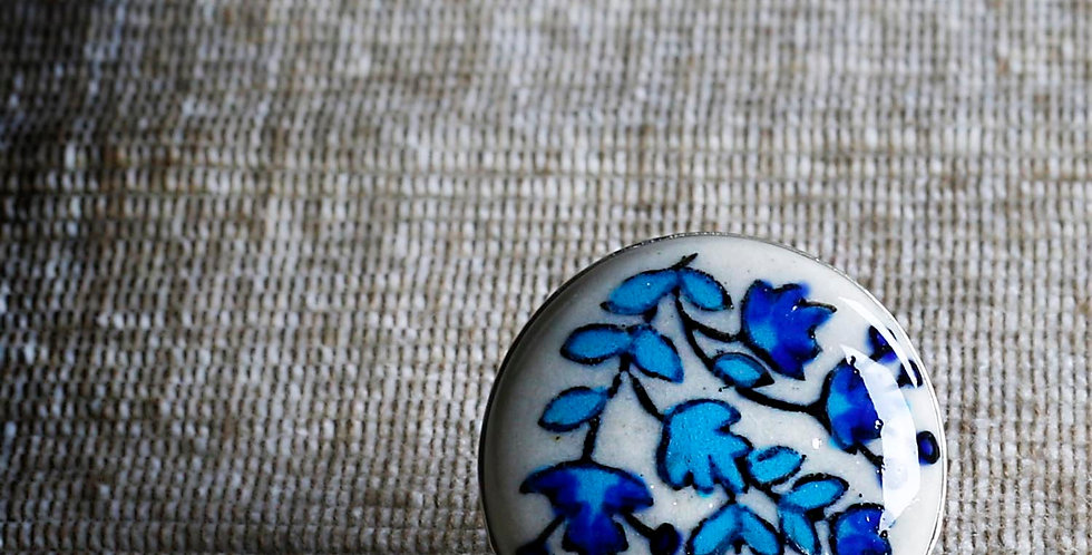 Flowers Hand Painted Ceramic Ring