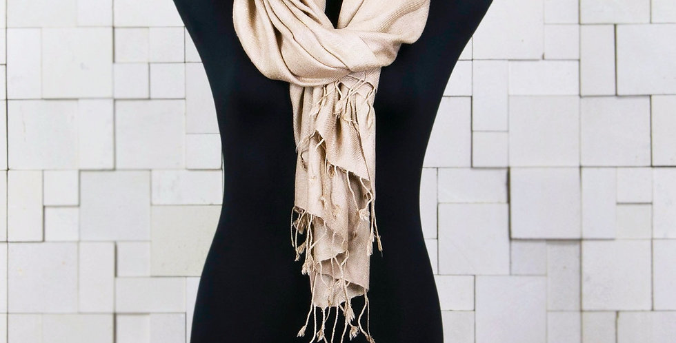 Pure Vegan Eri Silk Scarf - Gold