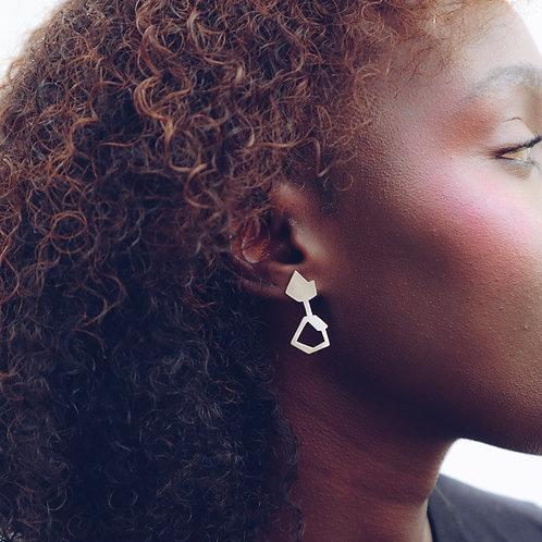 Fusion Geometric Drop Earrings - RRP $59.95