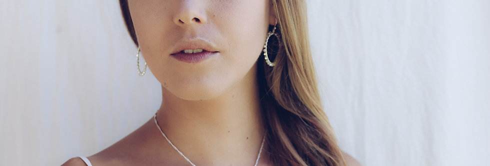 Newfound Celebration Earrings with the Three Drops Necklace