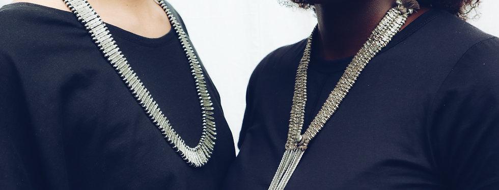 Silver Necktie Necklace