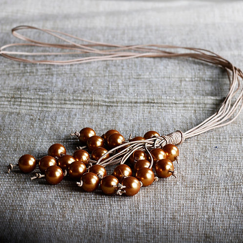 Golden Pearls Necklace - RRP $69.95