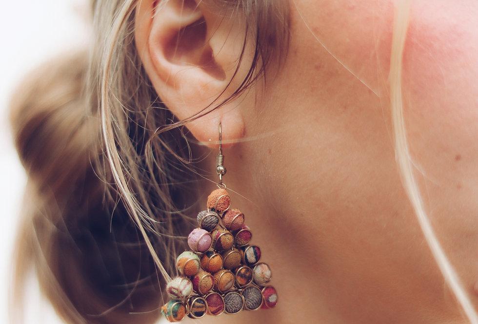 Upcycle Pyramid Pendant Earrings