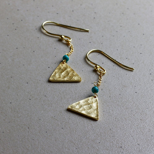 Mandisa Turquoise and Gold Earrings - RRP $69.95