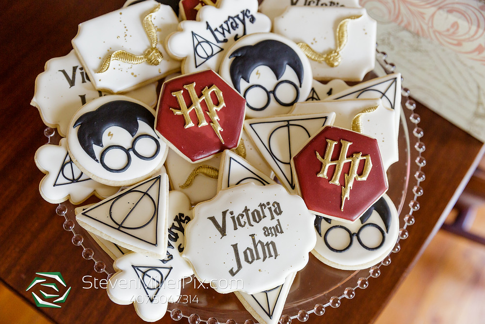 Custom Harry Potter cookies for wedding