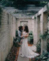 orlndo wedding bride groom kiss photo