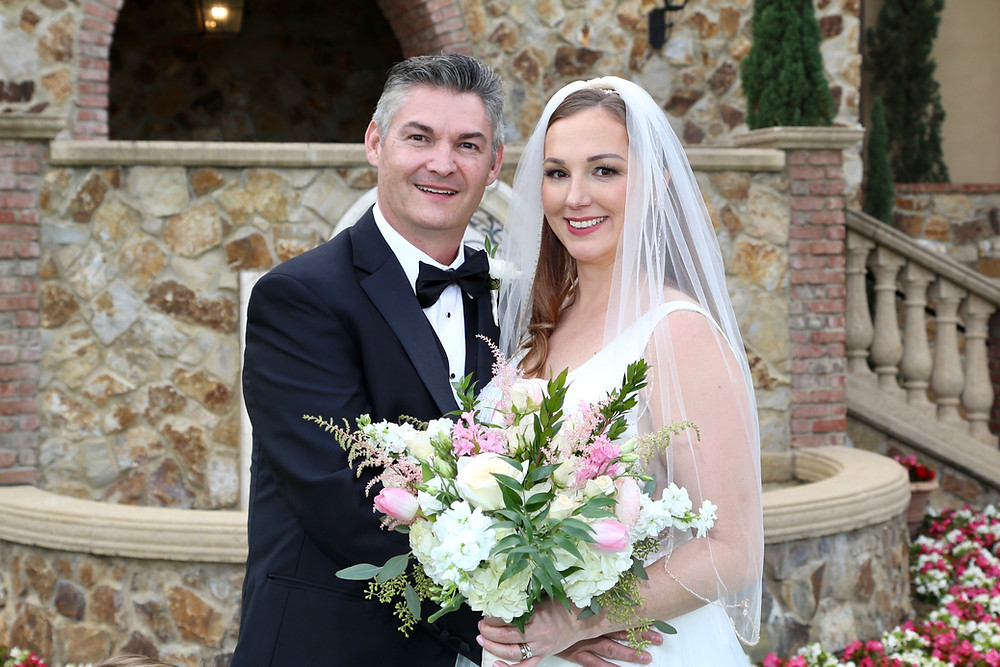Bride and groom portrait at Bella Collina
