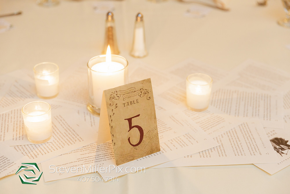 Wedding table number Harry Potter theme