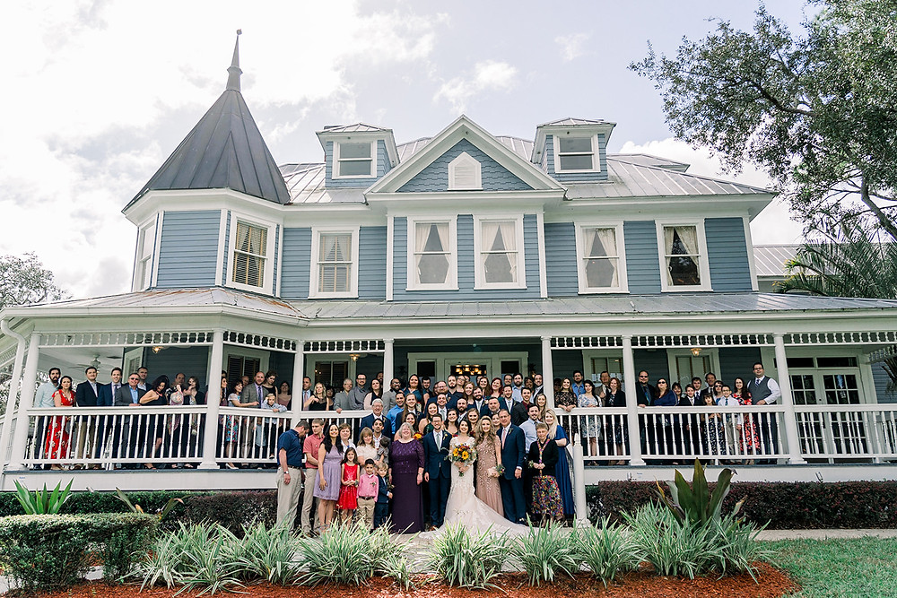 All Wedding guests picture porch Highland Manor