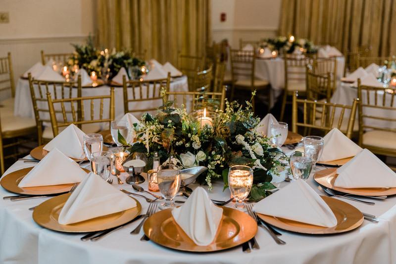 Table decor wedding reception Highland Manor